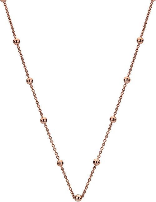 Hot Diamonds Lant de argint Emozioni Rose cablu de aur cu bile CH005