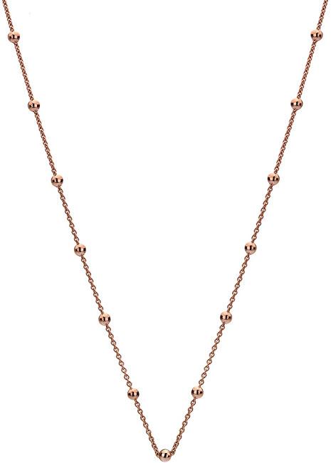 Hot Diamonds Stříbrný řetízek Emozioni Rose Gold Cable with Ball CH006