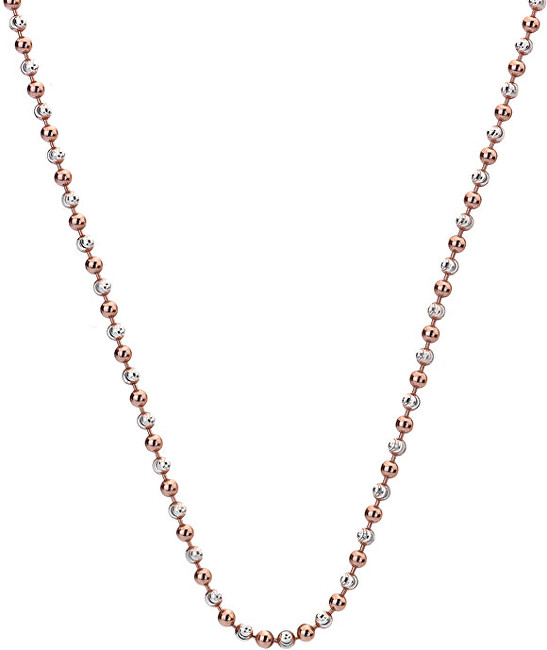Hot Diamonds Stříbrný řetízek Emozioni Silver and Rose Gold Bead CH020