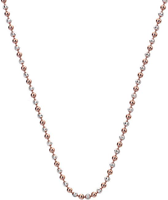 Hot Diamonds Stříbrný řetízek Emozioni Silver and Rose Gold Bead CH020