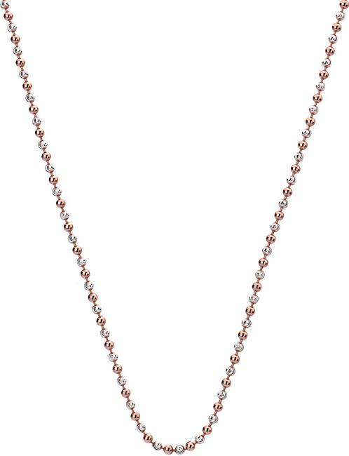 Hot Diamonds Stříbrný řetízek Emozioni Silver and Rose Gold Bead CH021
