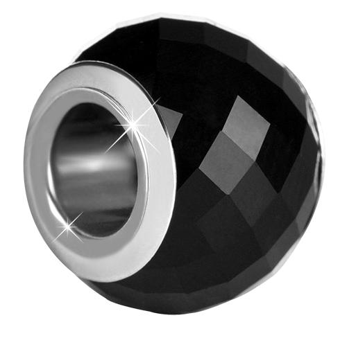 Infinity Love Černý skleněný korálek HGPL-104-B