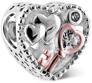 Infinity Love Stříbrný korálek Klíč k srdci HSZ-1154-S