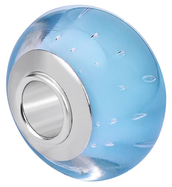 Infinity Love Světle modrý skleněný korálek HGS-834