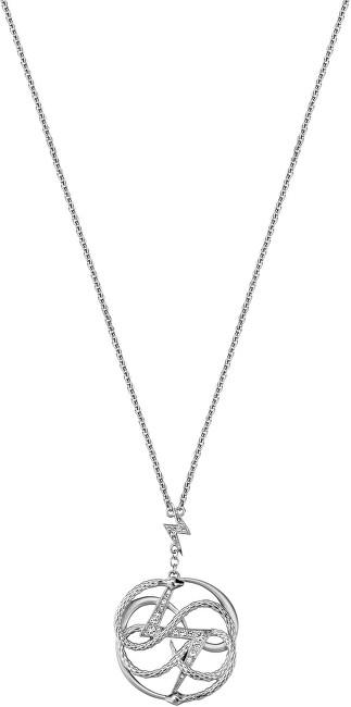 Just Cavalli Ocelový náhrdelník s výrazným přívěskem JCNL00060100