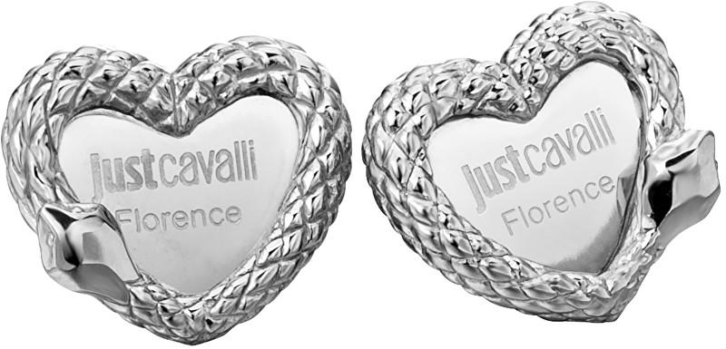 Just Cavalli Ocelové náušnice Srdce JCER00090100