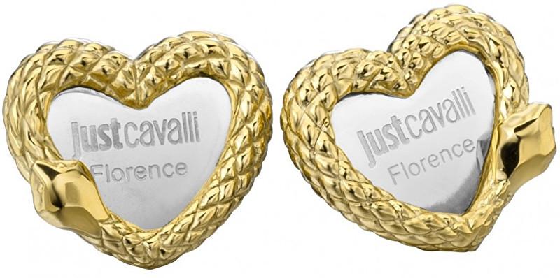 Just Cavalli Ocelové náušnice Srdce JCER00090300