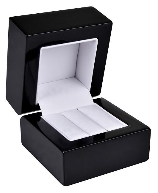 JK Box Drevená krabička na náušnice alebo snubné prstene BB-2 / NA / A25