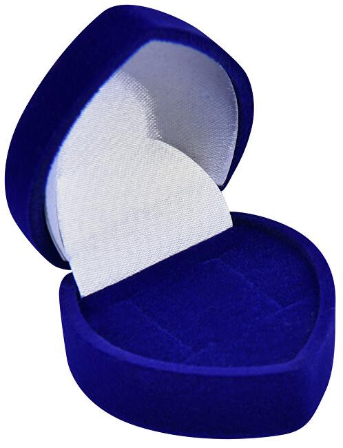 JK Box Modrá dárková krabička na náušnice F-75/NA/A14