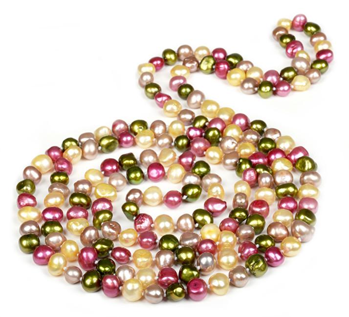 JwL Luxury Pearls Dlouhý multibarevný perlový náhrdelník JL0047
