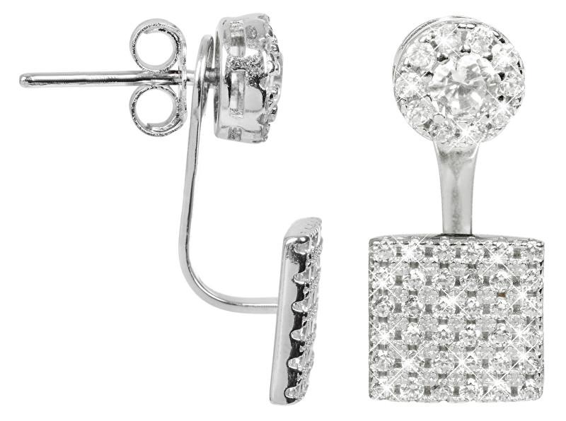 JwL Luxury Pearls Elegantní stříbrné dvojnáušnice se zirkony JL0198