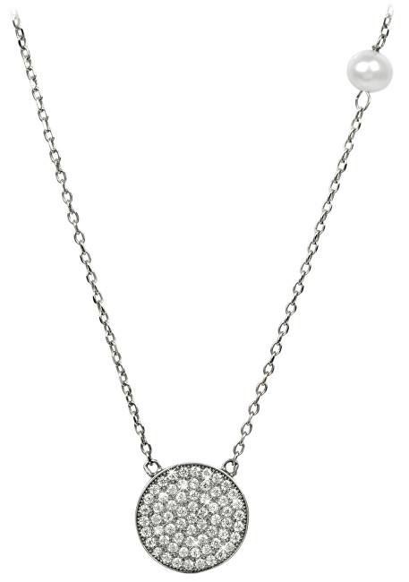 JwL Luxury Pearls Jemný náhrdelník s perlou a zirkony JL0188