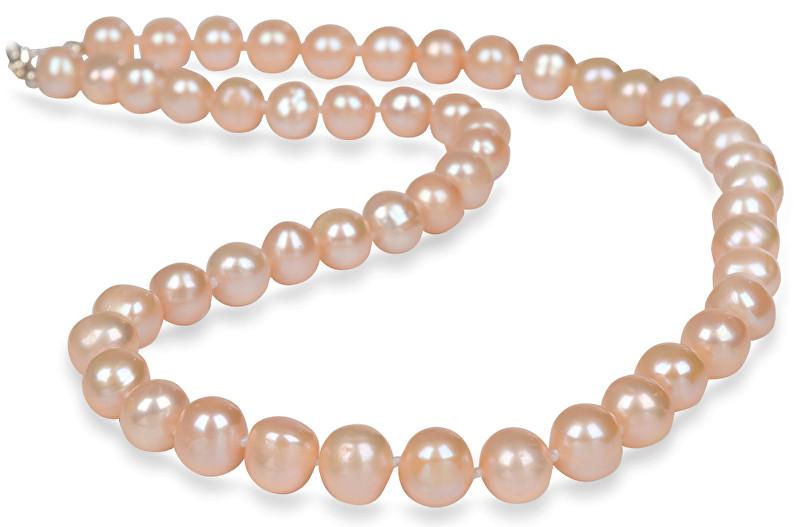 JwL Luxury Pearls Náhrdelník s pravými lososovými perlami JL0267