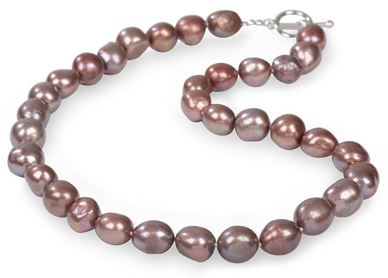JwL Luxury Pearls Náhrdelník z velkých pravých perel v hnědém tónu JL0069