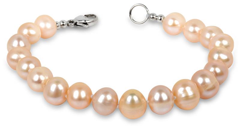 JwL Luxury Pearls Náramek z pravých lososových perel JL0142