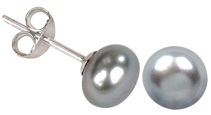 JwL Luxury Pearls Náušnice s pravou šedou perlou JL0029