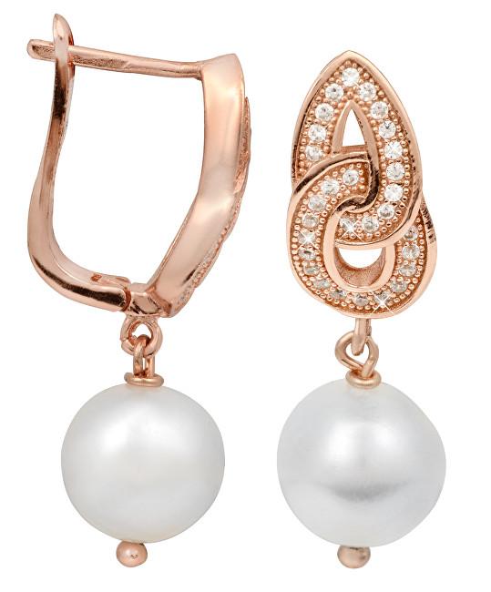 JwL Luxury Pearls Perlové náušnice s bílou pravou perlou JL0094