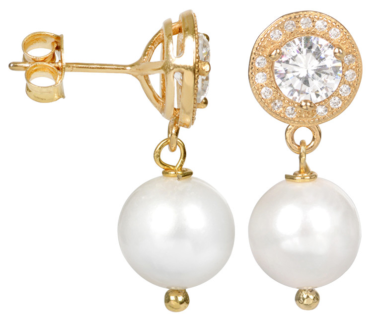 JwL Luxury Pearls Perlové náušnice s pravou bílou perlou JL0102