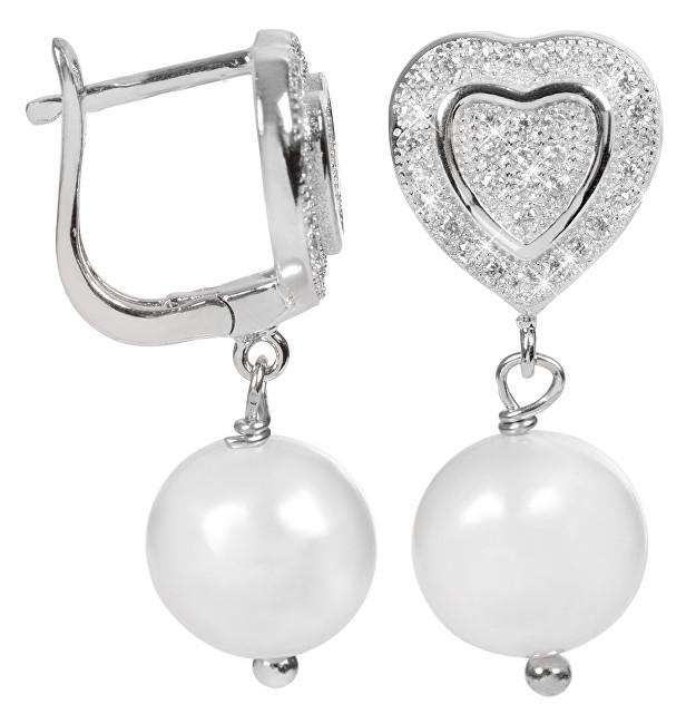 JwL Luxury Pearls Perlové náušnice s bílou pravou perlou JL0103