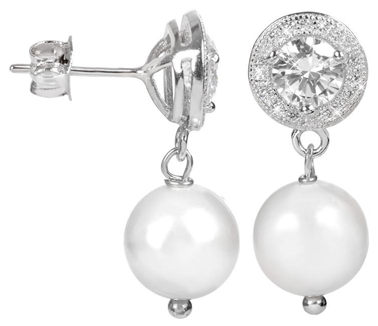 JwL Luxury Pearls Perlové náušnice s bílou pravou perlou JL0106