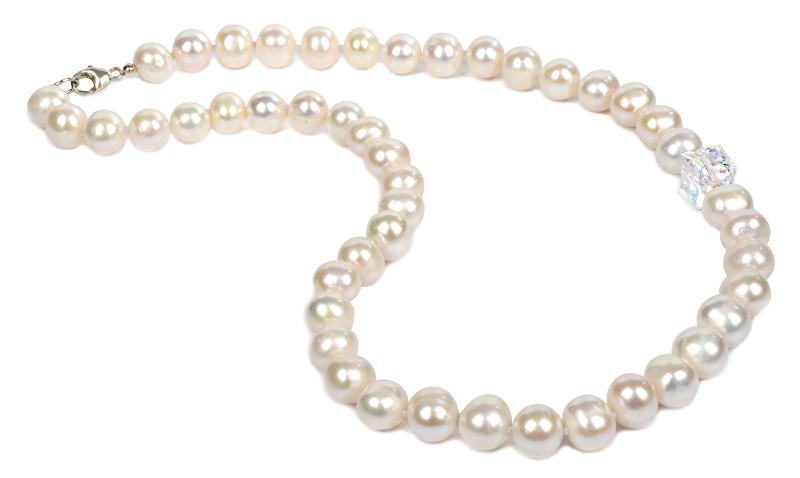 JwL Luxury Pearls Perlový náhrdelník s krystalem JL0051