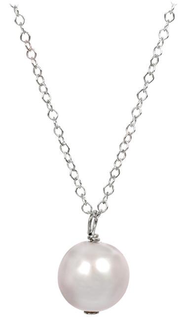 JwL Luxury Pearls Pravá perla růžové barvy na stříbrném řetízku JL0088