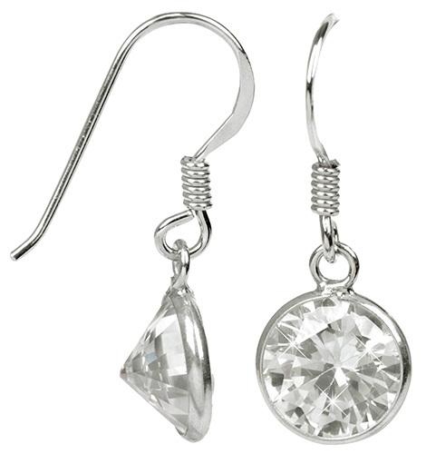JwL Luxury Pearls Stříbrné náušnice s třpytivými krystaly JL0282