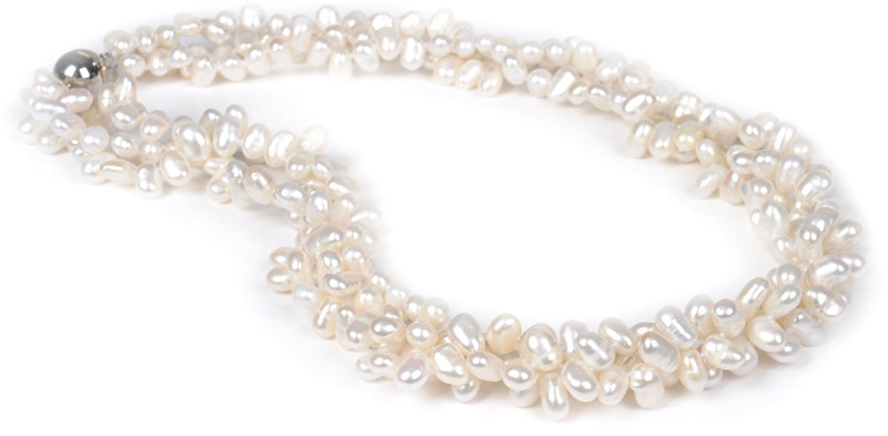 JwL Luxury Pearls Třířadý náhrdelník z pravých bílých perel JL0010