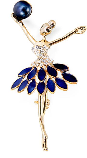 JwL Luxury Pearls Bratara de lux din aur 2v1 Ballerina cu perla albastra JL0445