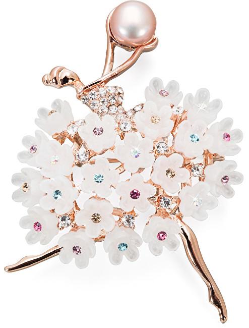 JwL Luxury Pearls Original broșă 2v1 Ballerina cu fustă înflorită JL0444