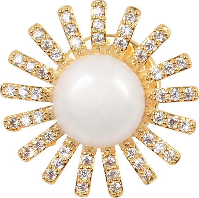 JwL Luxury Pearls Plăci de aur placate cu aur și sacou JL0381