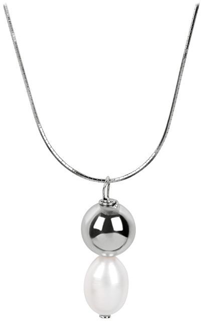JwL Luxury Pearls Stříbrný náhrdelník s perlou JL0336