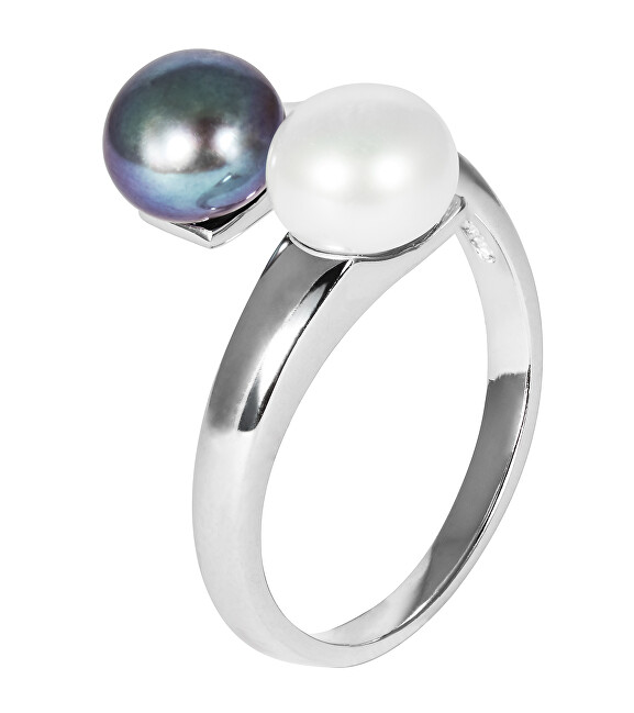 JwL Luxury Pearls Strieborný prsteň s pravými perlami JL0546