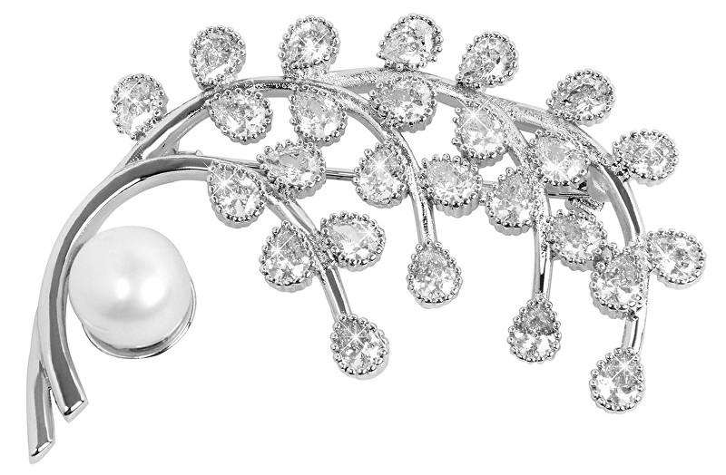 JwL Luxury Pearls Sclipici broșe Jelly cu perle și cristale JL0379
