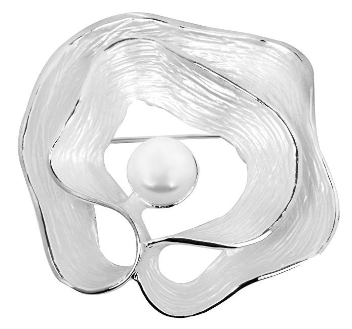 JwL Luxury Pearls Broșă unică, Scoică 2în1, cu perlă veridică JL0380