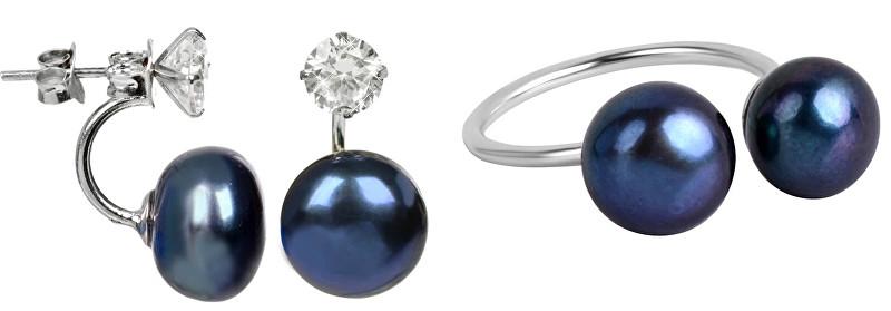 JwL Luxury Pearls Zvýhodněná perlová souprava šperků JL0225 a JL0433