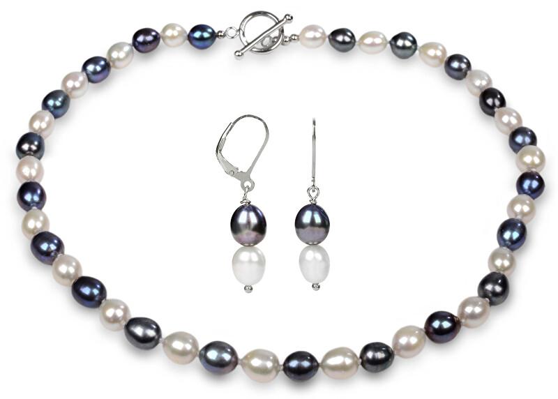 JwL Luxury Pearls Zvýhodnená perlová súprava šperkov JL0500 a JL0501 (náušnice, náhrdelník)