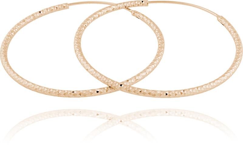 JVD Pozlátené strieborné náušnice kruhy SVLE0216XD5RO 6 cm