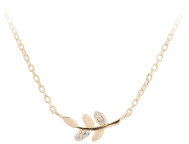 JVD Pozlacený náhrdelník s lístečky SVLN0129XD5G042