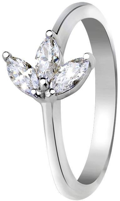 JVD Stříbrný prsten s krystaly SVLR0286SI7BI 57 mm