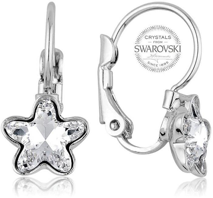 Levien Dívčí náušnice s čirým krystalem STARBLOOM