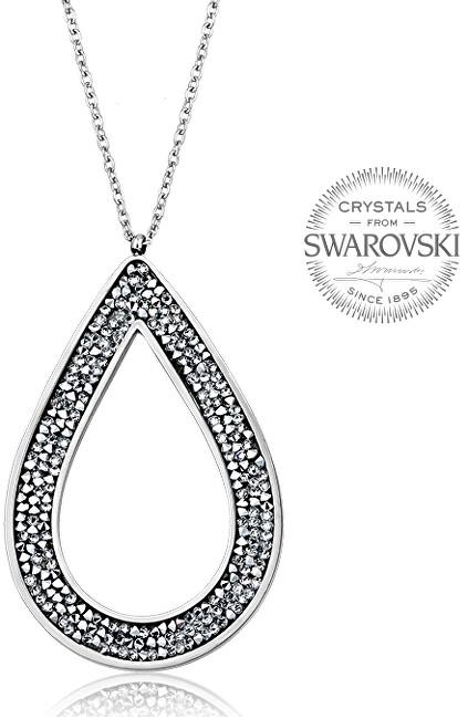 Levien Krásny náhrdelník s kryštálmi SS Rocks Pear 49 crystal
