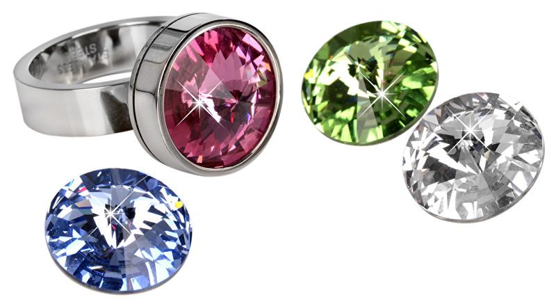 Levien prsten Change & Go se 3 krystaly na výměnu LE0001