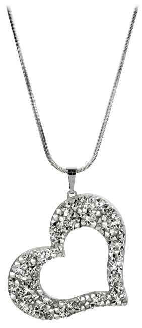 Levien náhrdelník Srdce s krystaly CROHEMECAL