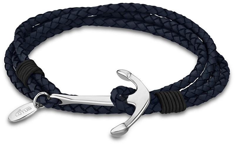 Lotus Style Kožený náramek s kotvou LS1831-2/2