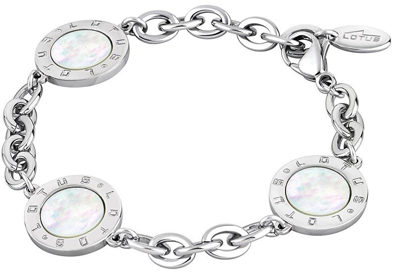 Lotus Style Oceľový náramok s perleťou LS1752-2 / 1