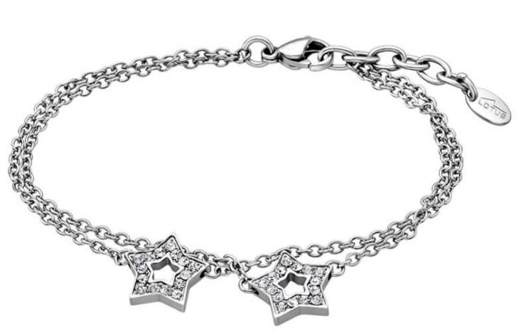 Lotus Style Hviezdičkový náramok s kryštálmi LS1885-2 / 1