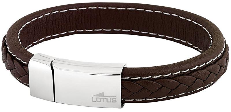 Lotus Style Pánský kožený náramek LS1741-2/1