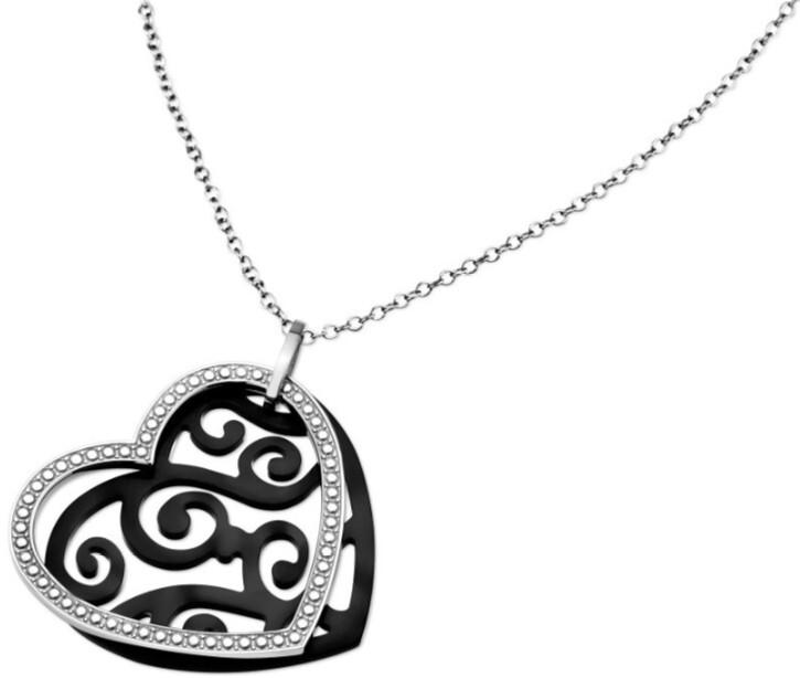Lotus Style Srdiečkový oceľový náhrdelník LS1591-1 / 2