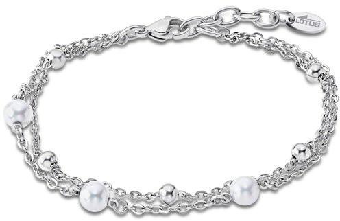 Lotus Style Stylový náramek s perličkami LS2001-2/1